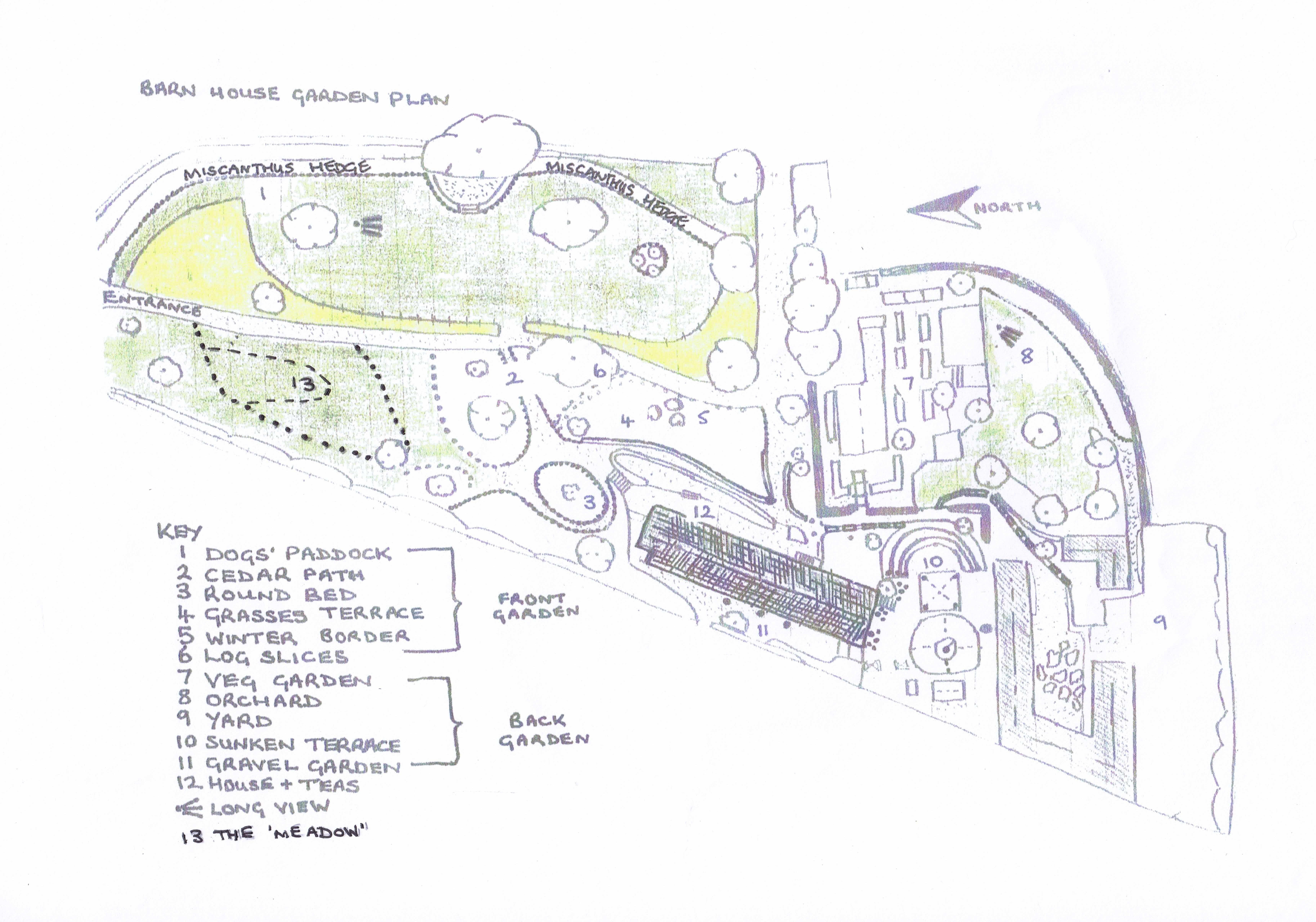 garden plan barn house garden