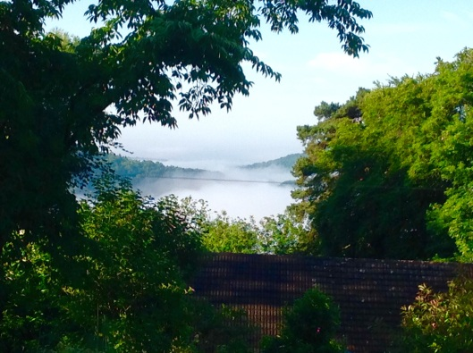 The dragons breath mist July morning