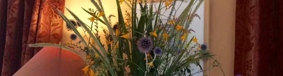 Pennisetum macrourm in flower arrangement