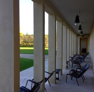 Colonnade with seating September