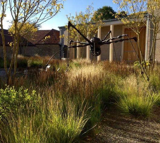 Spider sculpture Cloister Garden