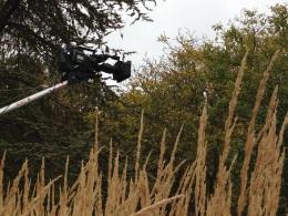 BBC camera boom October barn house garden
