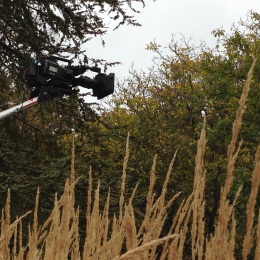 BBC camera boom October barn house garden