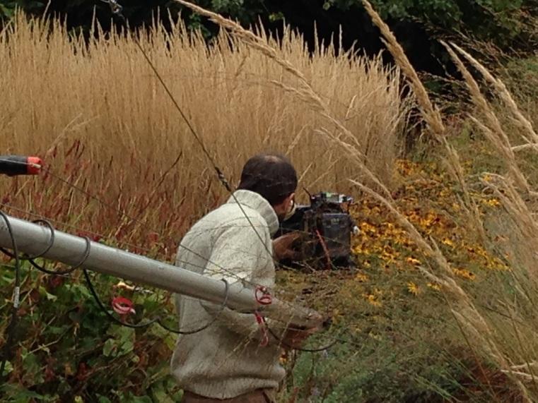 Robin lining up camera boom October