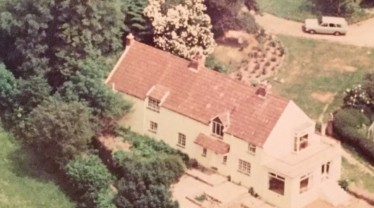Aerial view of garden 1970