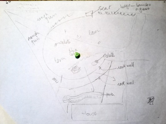Rough sketch for front garden 2011
