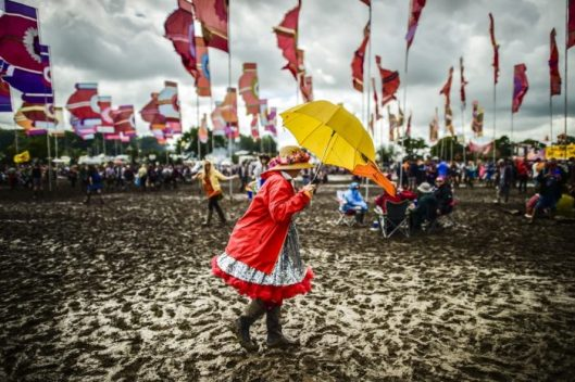 Glastonbury mud 2016