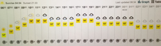 NGS day weather forecast