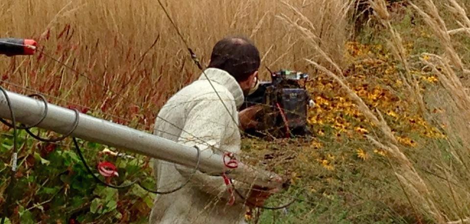 BBC filming Barn house for Gardener's World