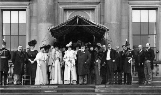 George Holford, family and visiting royalty
