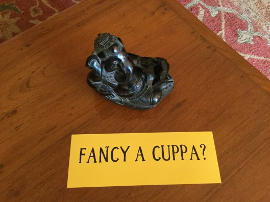 New sign for teas 'Fancy a cuppa?'