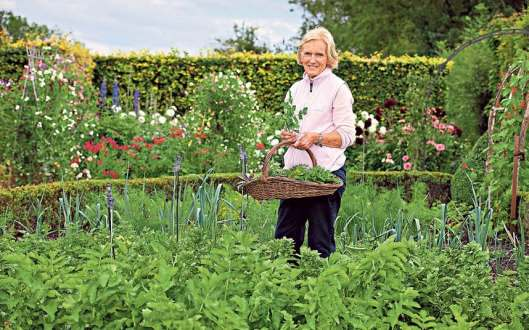 Mary Berry in her beautiful garden